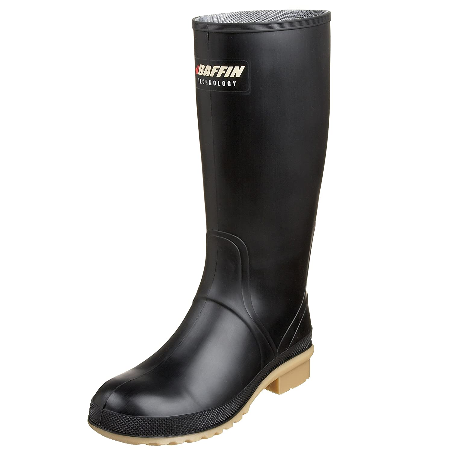 Baffin Women's Processor Canadian Made Industrial Rubber Boot B002BH4GQO 7 B(M) US|Black/Amber