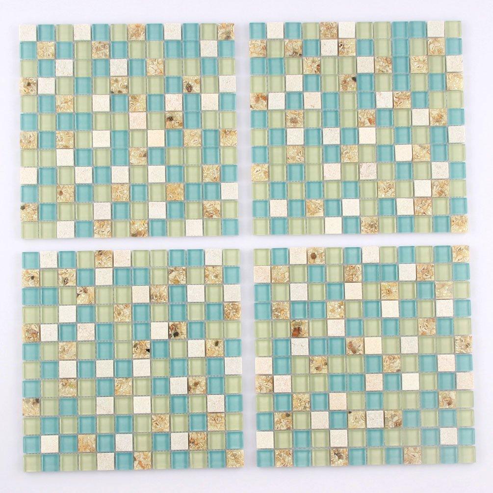 Amazon.com: Azulejos de pared Playa de piedra mosaico ...