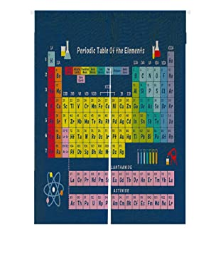 Amazon custom periodic table of chemical elements japanese custom periodic table of chemical elements japanese noren doorway curtain door and window curtain tapestry size urtaz Gallery