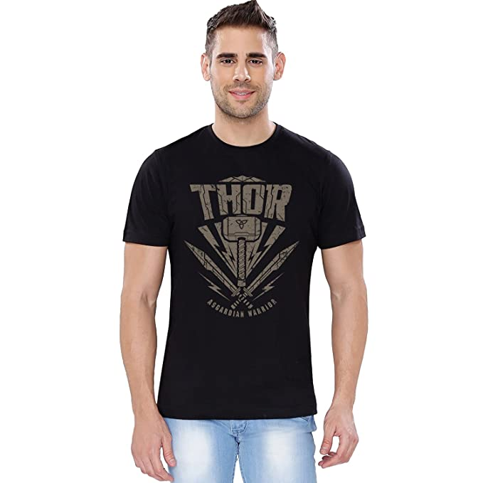 dec317e9 The Souled Store Marvel Thor: Asgardian Warrior Superhero Cotton T-Shirt  for Mens from: Amazon.in: Clothing & Accessories