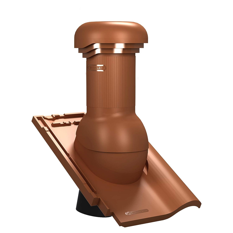 RAL 8004 - Ziegelrot Entl/üfterkamin PRO DN150 f/ür Koramic Alegra 9 Dachziegel Dachl/üfter Entl/üfter