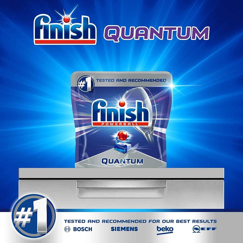 Finish Quantum Pastillas para Lavavajillas Limón - 54 Pastillas ...