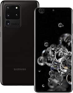 Samsung S20 Ultra 5G Factory Unlocked SM-G988U1 Cosmic Black 16GB Ram 512GB Storage (AT&T, Verizon, Sprint and T-Mobile) - US Warranty