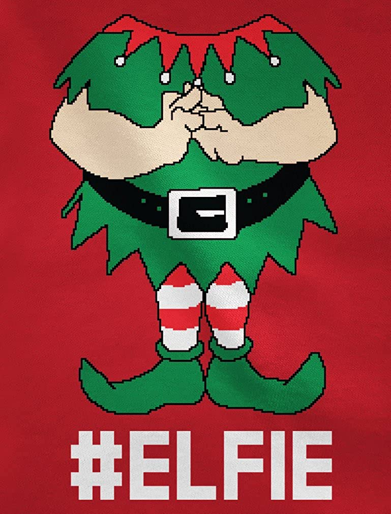 TeeStars Elf Suit Funny Elfie Christmas Youth Kids Long Sleeve T-Shirt Medium Green