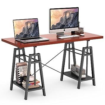 Amazon.com: Tribesigns Computer Desk Height Adjustable Standing ...