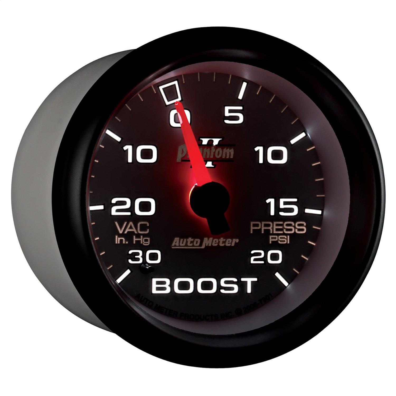 Auto Meter 7801 Phantom II Mechanical Boost/Vacuum Gauge by AUTO METER
