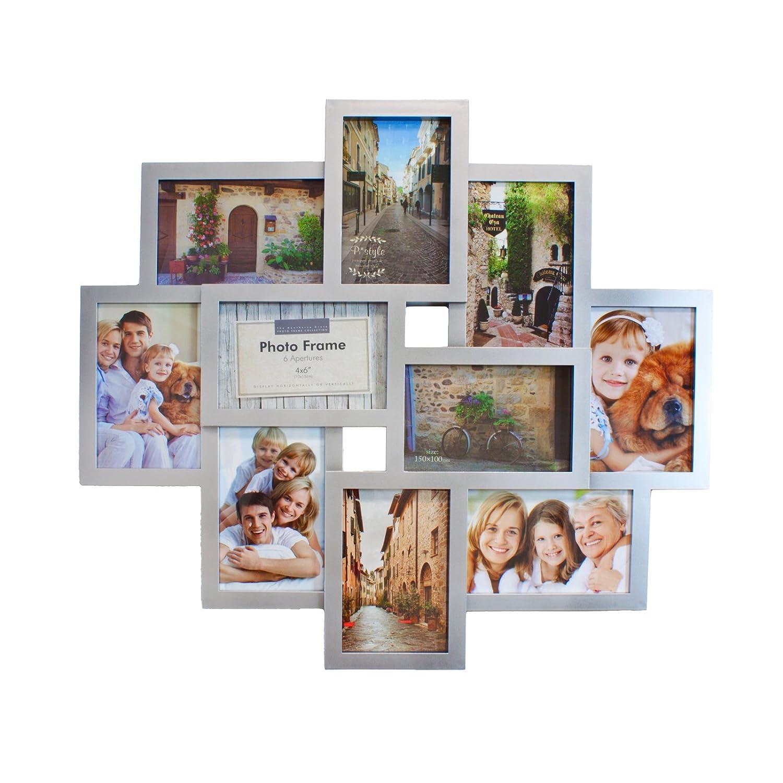 Smartfox Bilderrahmen Fotorahmen Collage für 10 Bilder im Format ...