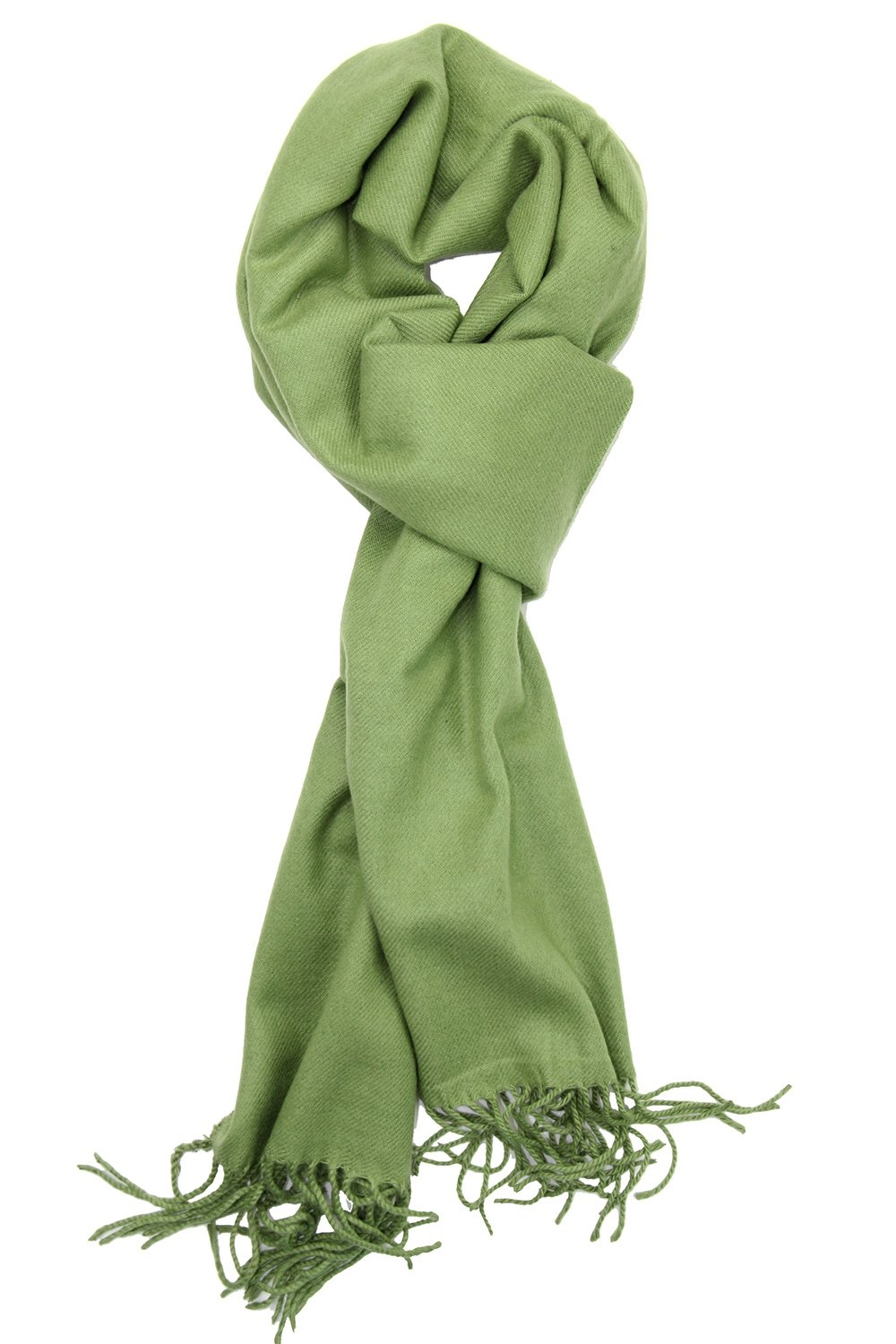 Achillea Soft & Warm Solid Color Cashmere Feel Winter Scarf Unisex (Moss Green)