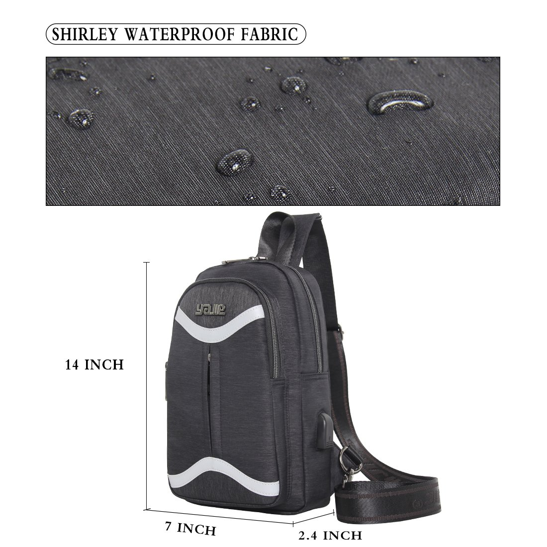 0f0c0825f8276 Amazon.com   Sling Bag Chest Strap Backpack Crossbody Reflective Waterproof  Nylon Outdoor Riding Lightweight Casual Daypack for Man Teens   Casual  Daypacks
