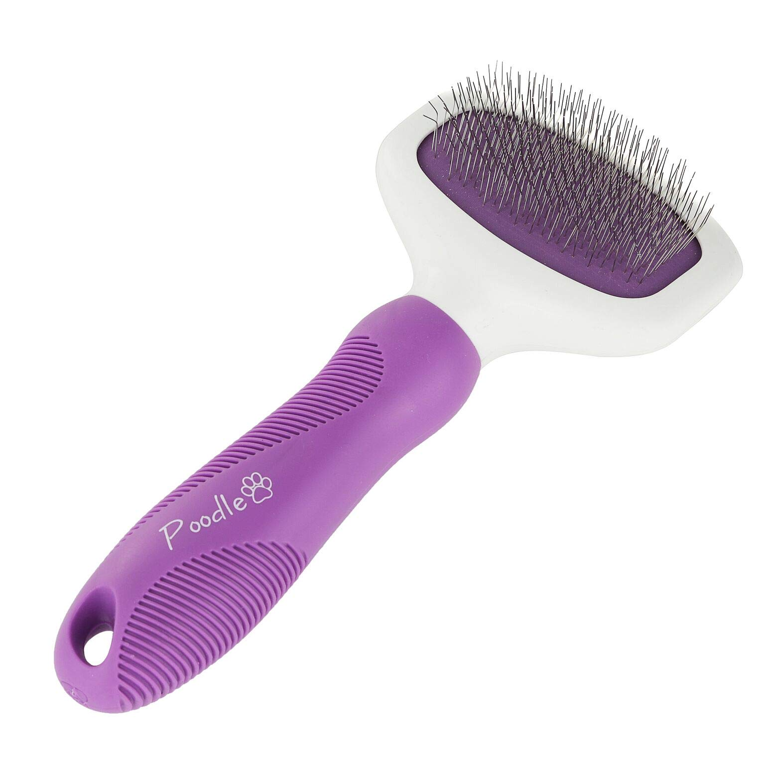 Poodle Pet Slicker Brush Small Large Dogs Pet Hair Remover Rotating Head | Effectively Effortlessly Removes Tangles, Mats Loose Hair Short Long Hair(Grooming Brush)