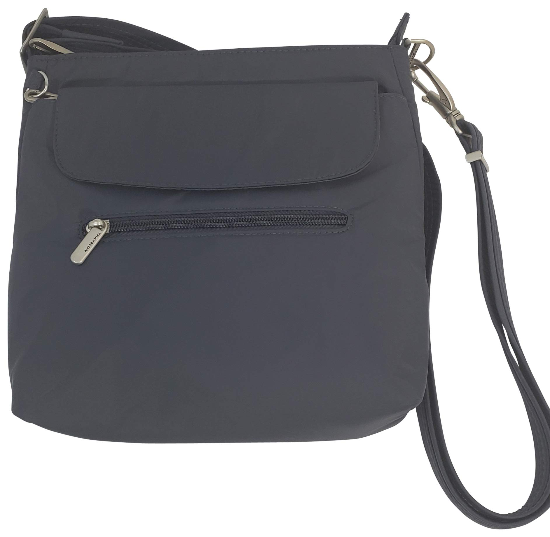 Travelon Anti-Theft Classic Mini Shoulder Bag (One_Size, Charcoal/Grey Lining) by Travelon