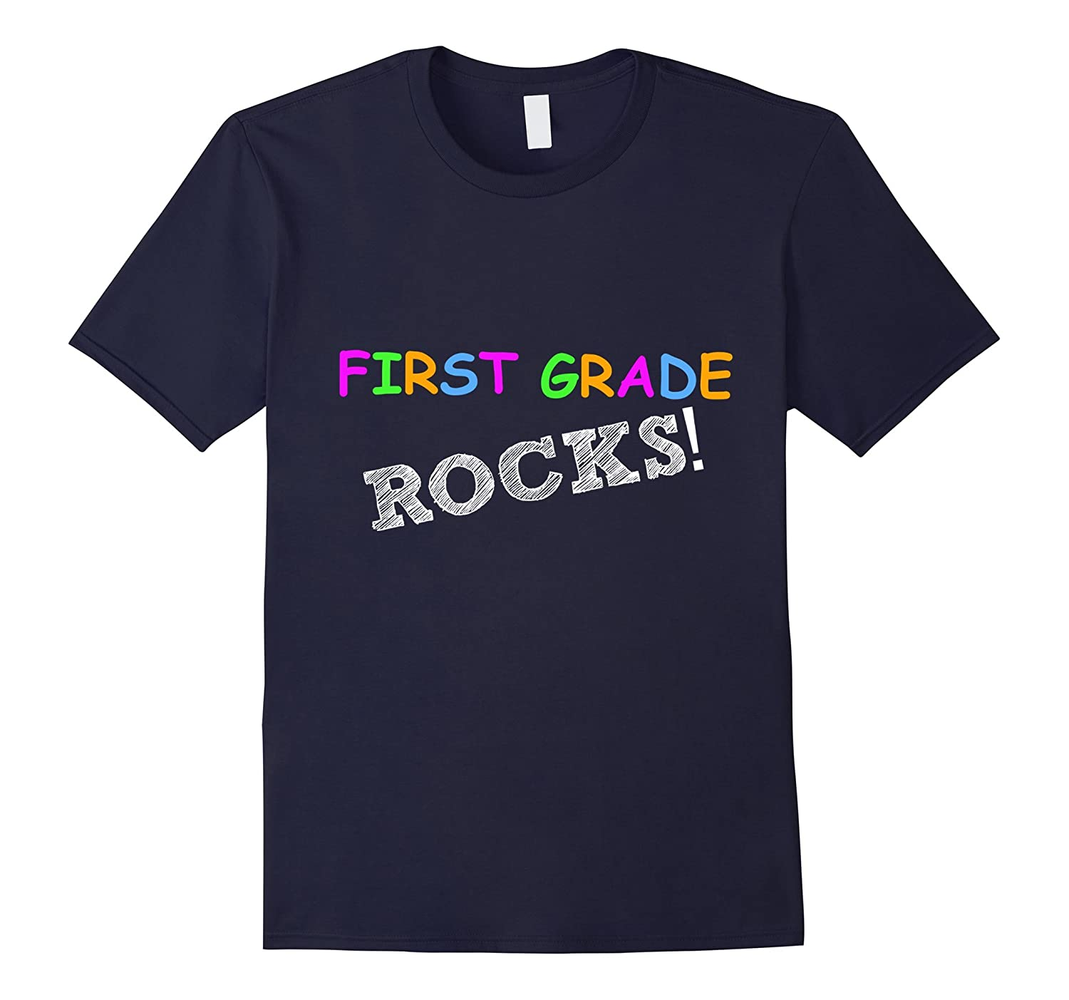 1st grade teacher- First grade rocks back to school shirt-Art