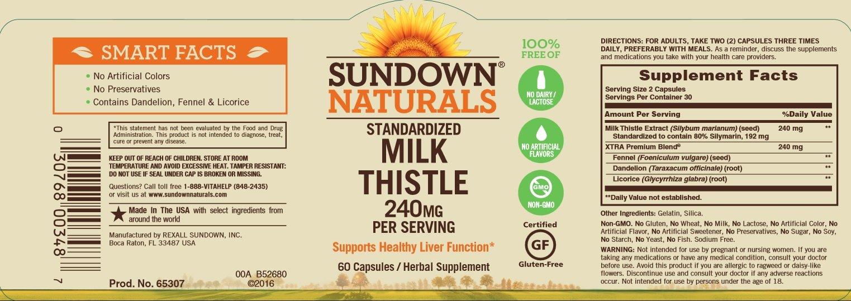 Sundown Naturals Milk Thistle 240 mg, 60 Capsules by Sundown Naturals (Image #5)