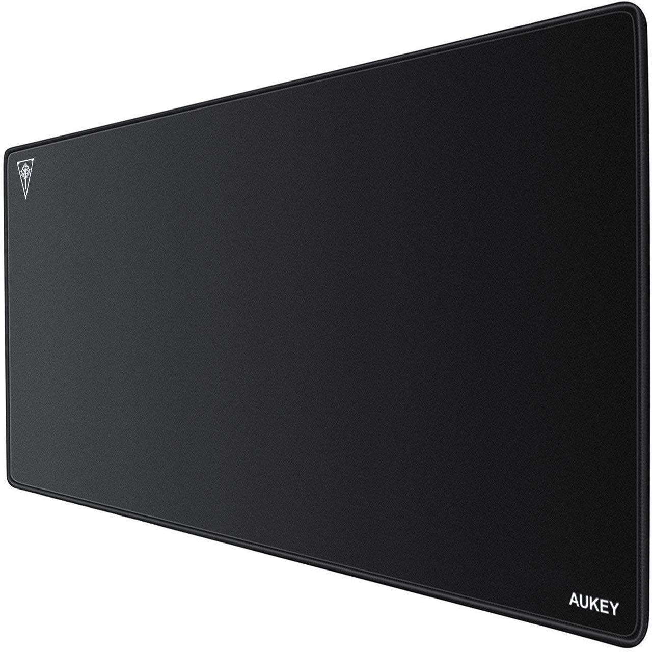 AUKEY Gaming Mouse Pad Large XXL (35.4×15.75×0.15in) Thick Extended Mouse Mat Non-Slip Spill-Resistant Desk Pad with Special-Textured Surface, Anti-Fray Stitched Edges for Keyboard, PC - Black by AUKEY