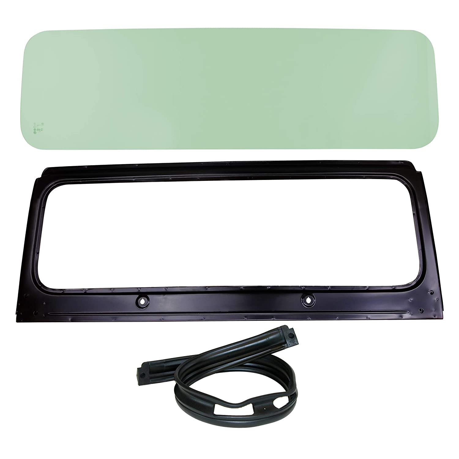 Make Auto Parts Manufacturing Set of 3 Front DOT Approved Windshield Glass CH1280104 Frame and Cowl Seal KIT for Jeep CJ5 1976-1983 CJ7 1976-1986 and CJ8 Scrambler 1981-1985