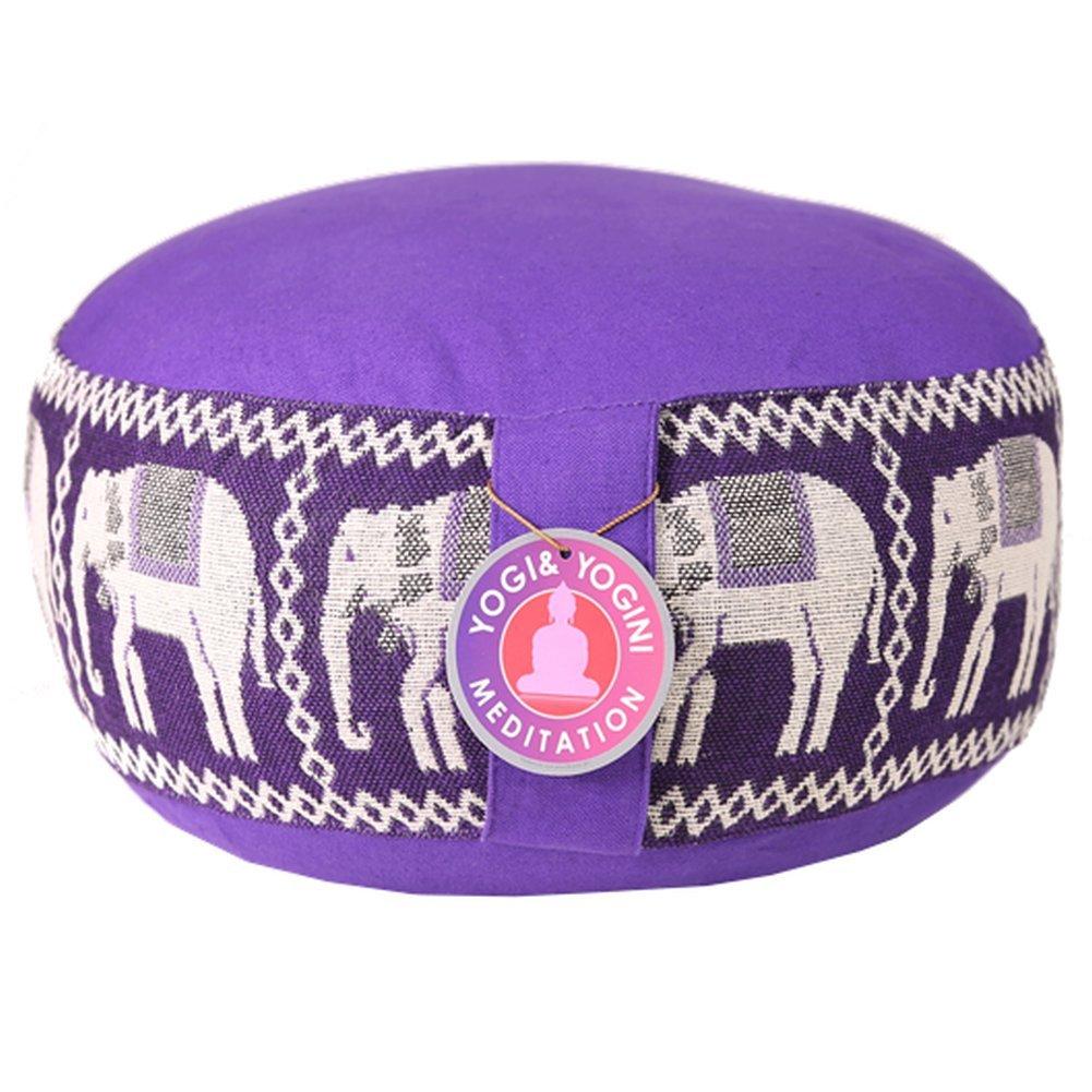 –Cojín de meditación Elefantes Yoga Cojín de Asiento None