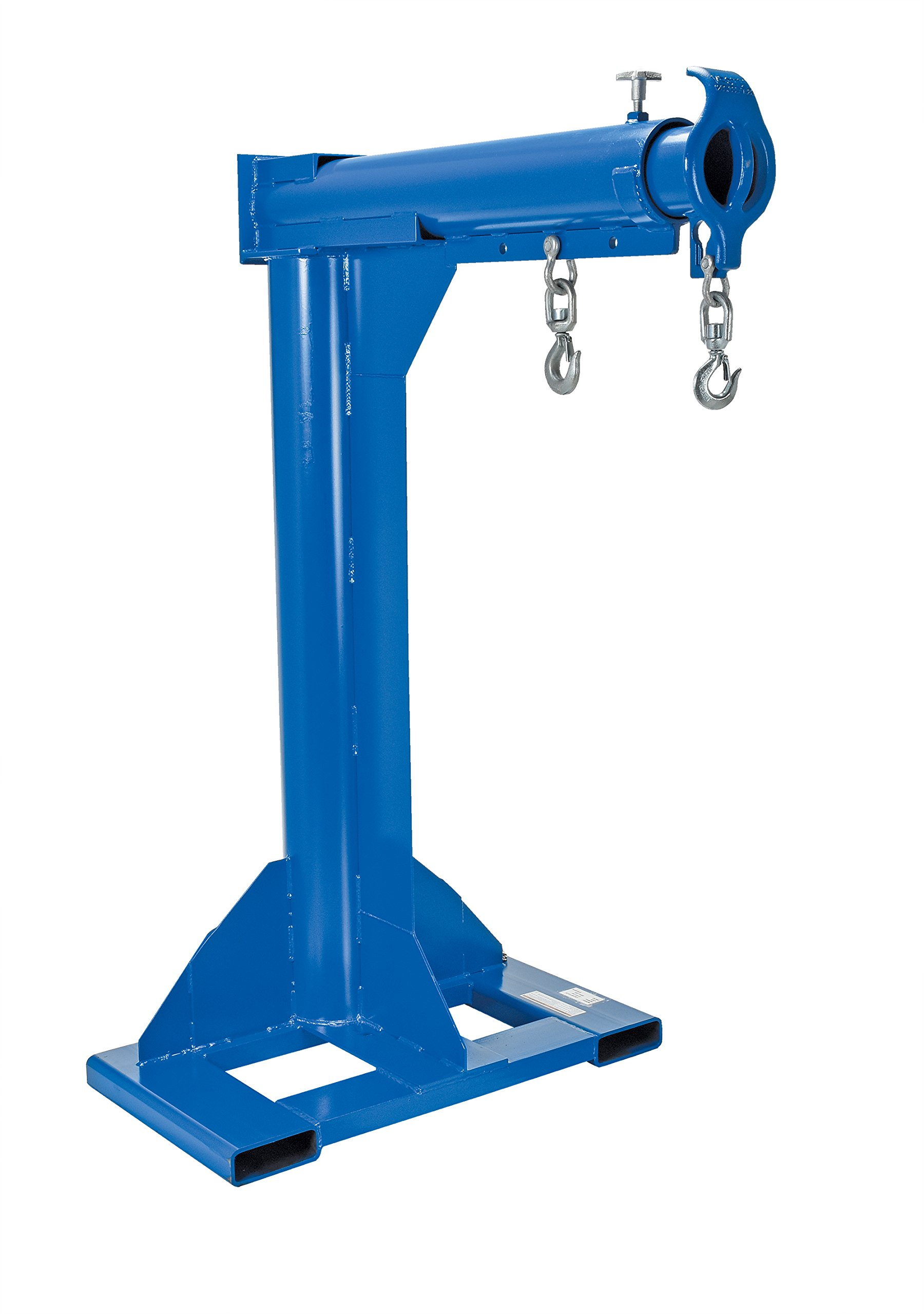 Vestil LM-HRT-4-30 Steel Telescoping High Rise Boom, 4000 lb Capacity, 30'' Fork Pocket Center, Overall LxWxH (in.) 38 x 54.875 x 79.8125, Overall Extended Length (in.) 92-5/8, Minimum Hook Point (in.) 30, Maximum Hook Point (in.) 90, Blue