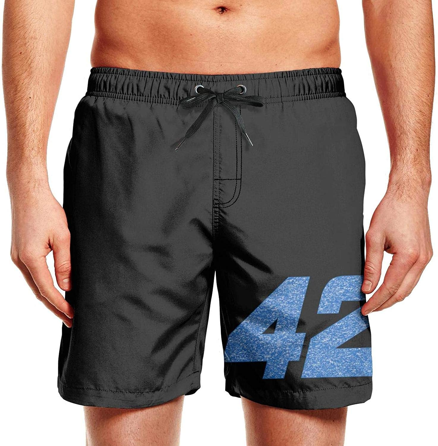 NIANLJHDe Mens Graphic Mens Swimwear Skatekyle-larson-number-42-driver-target-racing Summer Quick Dry Beach Shorts