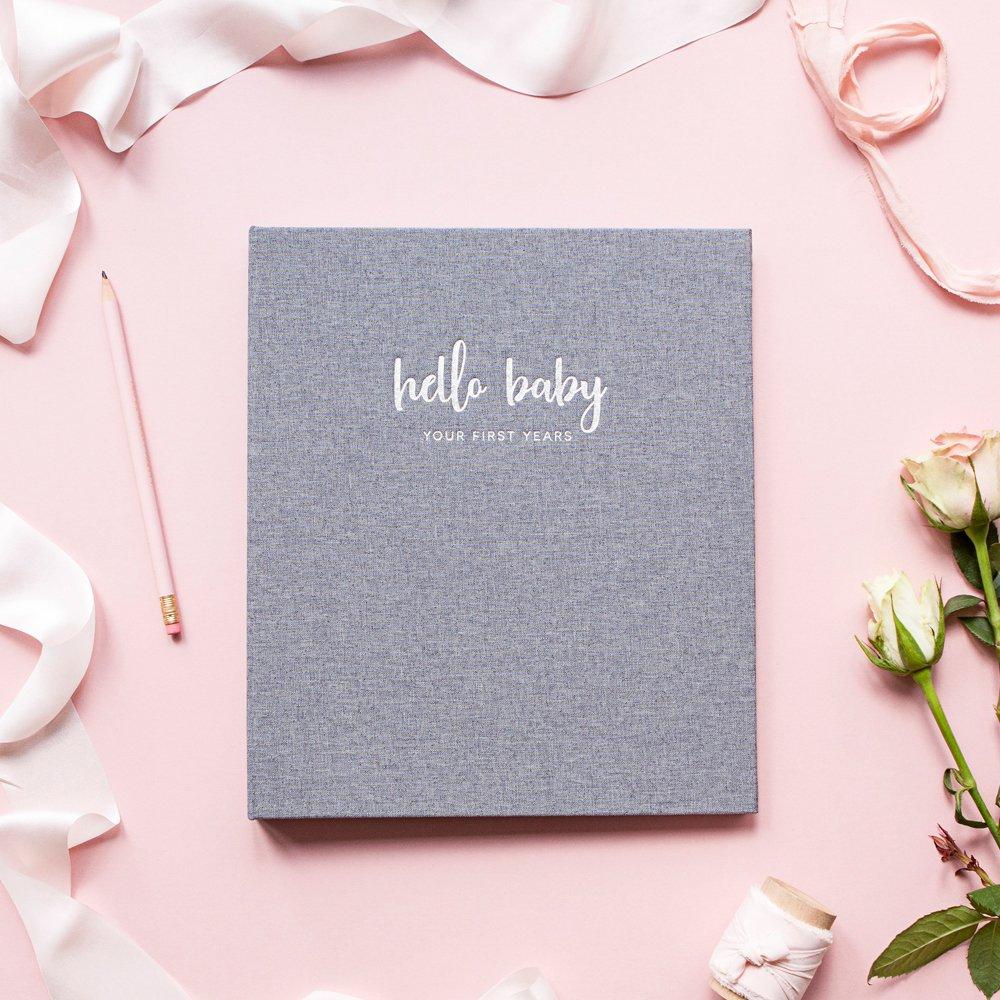 Libro de memoria minimalista para bebé, para niñas, recuerdo de letras de leña LGBTQ amigable, 22,86 x 29,67 cm. 60 páginas. Regalo perfecto para baby ...