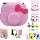 CAIUL 7 in 1 Hello Kitty Camera Accessories Bundle(Pink Hello Kitty Case/Mini Album/Close-Up Selfie Lens/ 4 Colors Close-Up Lens/Wall Hang Frames/Film Frame/Film Stickers)