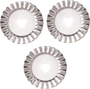 Fiskars 93518097J Decorative Rotary Replacement Pinking Blade, 45mm - 3 Pack