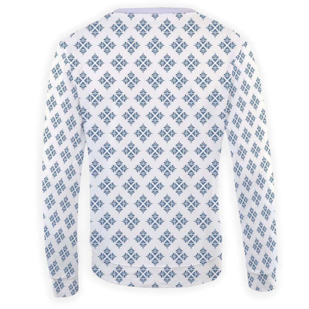 MOOCOM Mens Geometric Crewneck Sweatshirt-Unisex