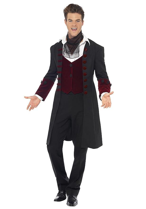 Amazon.com: Generique Mens Halloween Gothic Vampire Costume ...