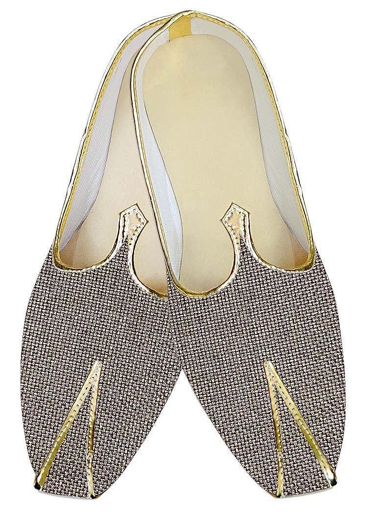 INMONARCH Hombres Boda Zapatos Groomsman Yute de Bronce MJ014221 40.5 EU