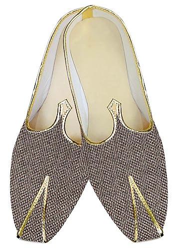 Mens Bronze Jute Wedding Shoes Groomsman MJ014221