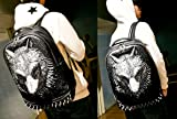 3D Print Animal Studded Backpack PU Leather Cool