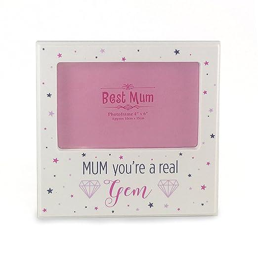 Mamá eres un real Gem blanco marco de fotos día de la madre ...