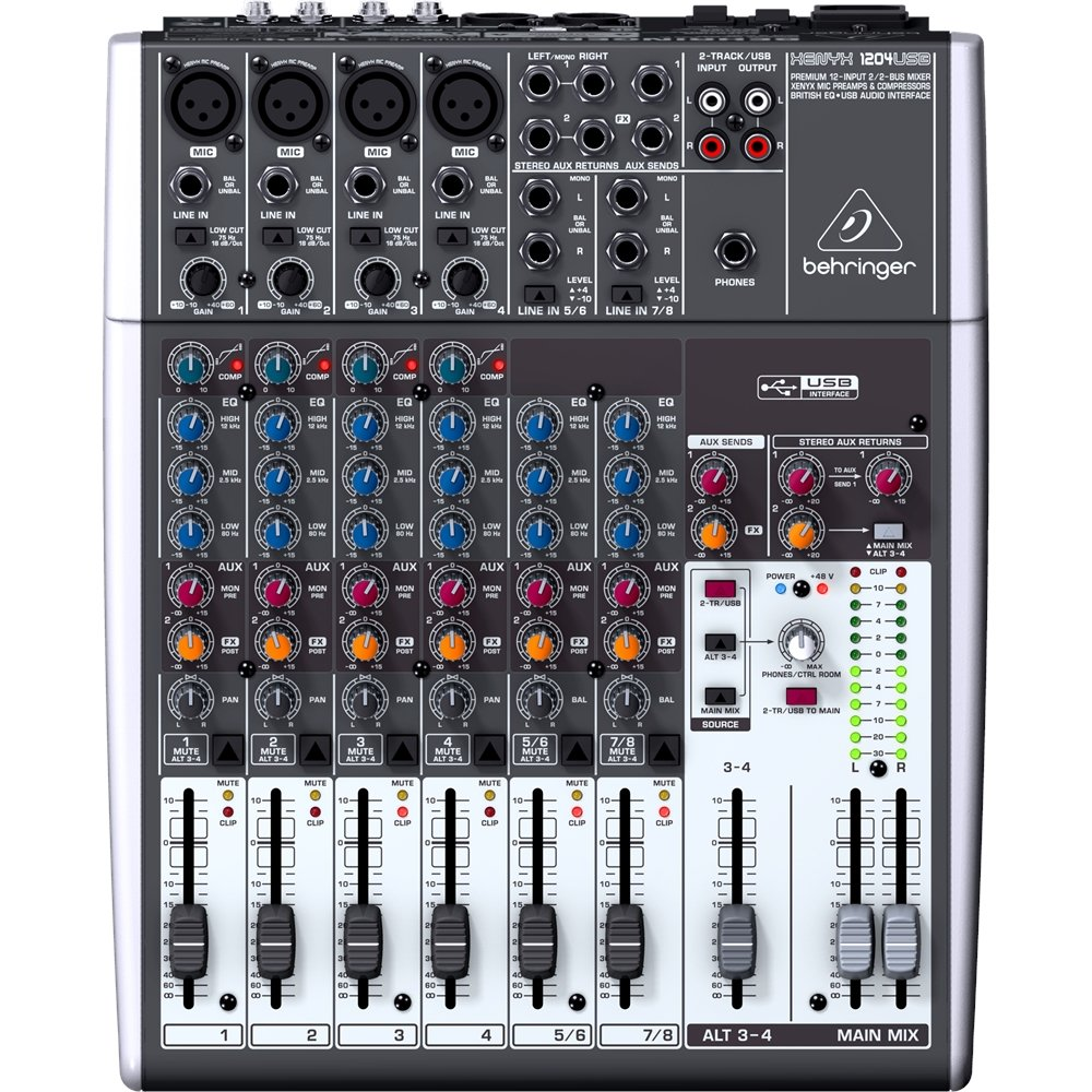 Behringer Xenyx 1204usb Musical Instruments Stereo Mixer For Microphone With 2 Channels