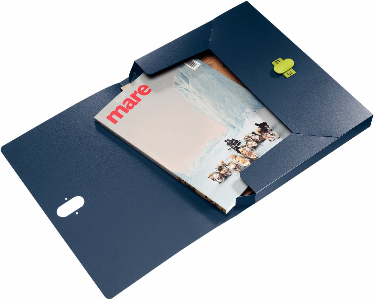 Recycled and Recyclable Flexible Plastic Recyclable fastening 46220069 Holds up to 150 A4 Sheets Dark blue Leitz 3-Flap Folder re:cycle Range