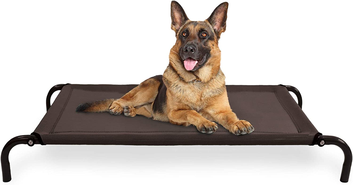 Furhaven Pet Dog Bed Cooling Breathable Mesh Elevated Raised Pet Cot Bed for Dogs Cats – Available in Multiple Colors Sizes Renewed