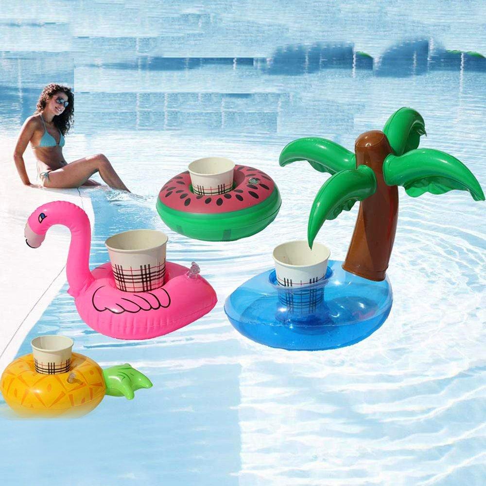Newin Star Flotador Posavasos,Portavasos Hinchable de Bebida Piña Juguetes Flotantes hinchables de Verano Fiestas de Piscinas: Amazon.es: Juguetes y juegos