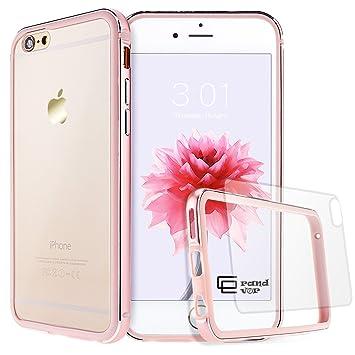 d145dd82766 GrandEver iPhone 6/6S Hülle Aluminium Rahmen mit Silikon Bumper + Hart PC  Zurück Kombination