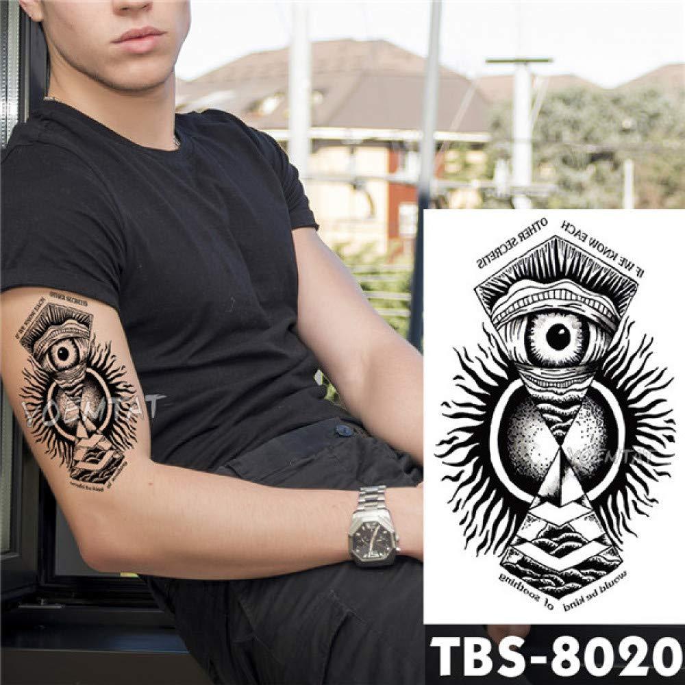 adgkitb 4 Piezas Tatuaje Temporal Impermeable águila Loto Mandala ...
