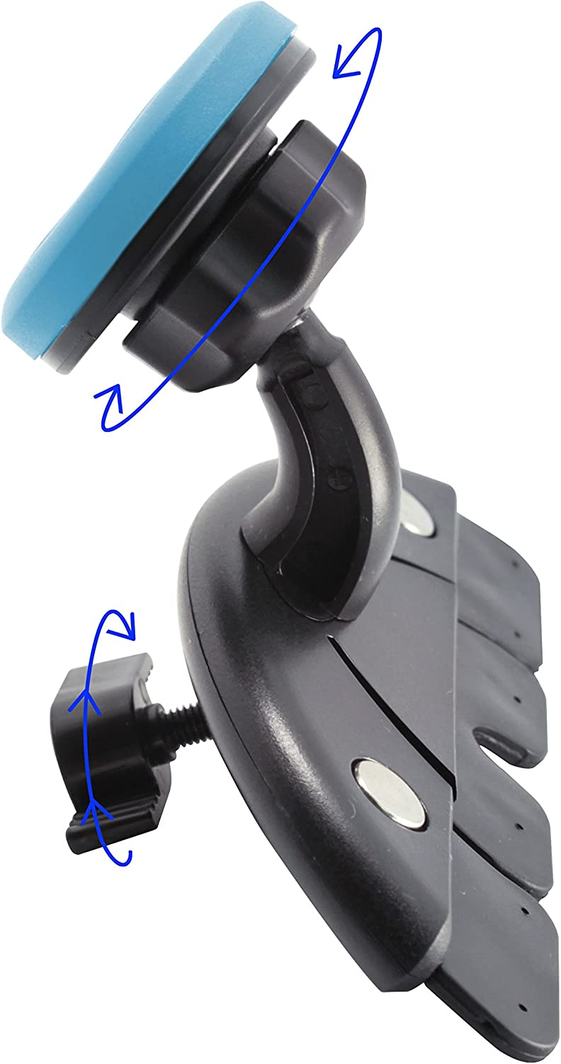 Blue TechMatte MagGrip Universal Magnetic CD Slot Car Mount with Extra Strong Magnetic Grip