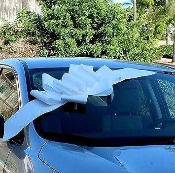 Amazon Big White Car Bow Ribbon 25 Wide Large Gift