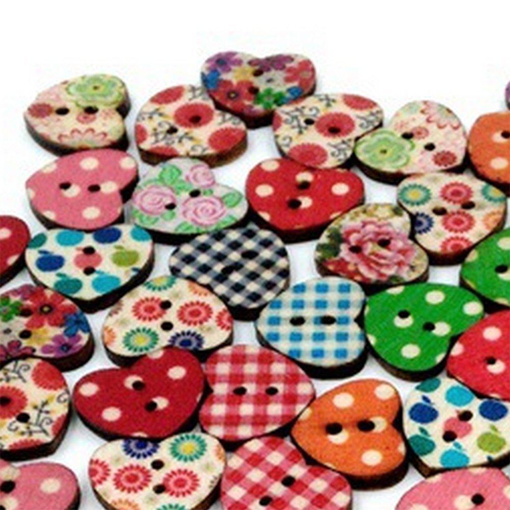 2 agujeros accesorios creativos 10mm B Multicolors manualidades 100 botones Namgiy de madera para costura varios colores manualidades para manualidades /álbumes de recortes