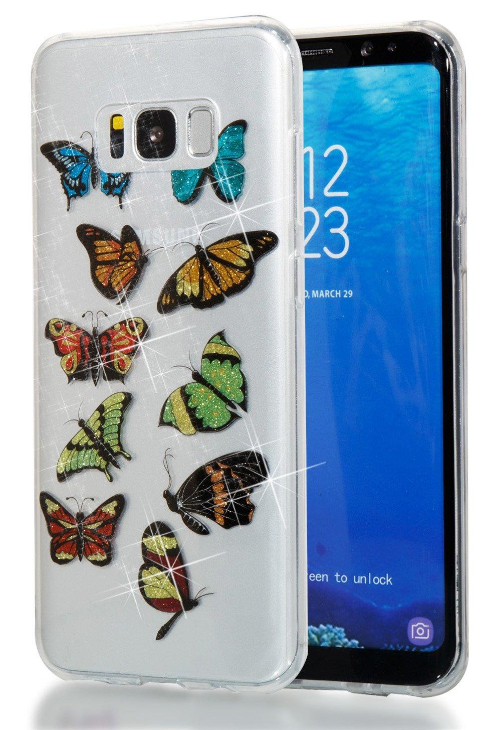 Galaxy S7 Case, Slim Soft TPU High Transparent Flash Powder MID Phone Cover  for SamsungS7 G9300 G930 G930F G930V G930A G930FD G930P Shock-Absorption