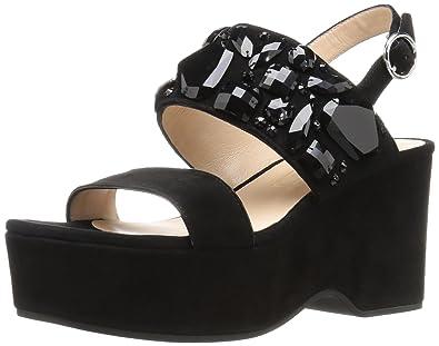 7dbcec01ba7 Marc Jacobs Women s Lily Embellished Wedge Sandal  Amazon.co.uk ...