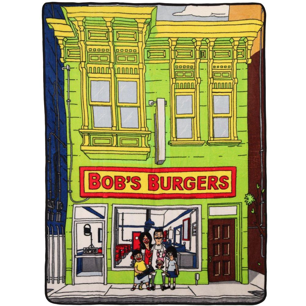 """Bob's Burgers Storefront Fleece Throw Blanket 45"""" x 60"""""""