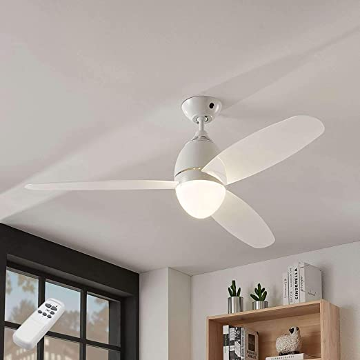 Ventilador de techo con lámpara Piara (Moderno) en Blanco hecho ...