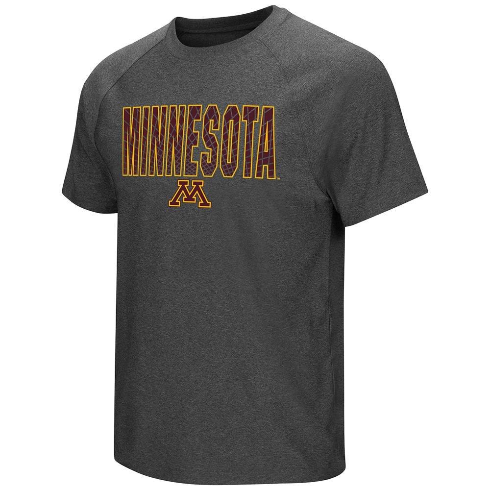 メンズNCAA Minnesota Golden Gophers半袖Tシャツ( Heather Charcoal ) Medium  B01N6SJHL1
