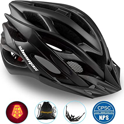 Diret Black grey Bicycle Helmet Mountain Bike Helmet for Men Women Youth