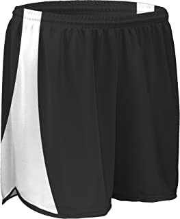 """product image for TR-687W-CB Women's 4"""" Light Weight Sheer Fabric w/Built in Brief Track Short with Side Panels and Inner Brief (XX-Large, Black/White)"""