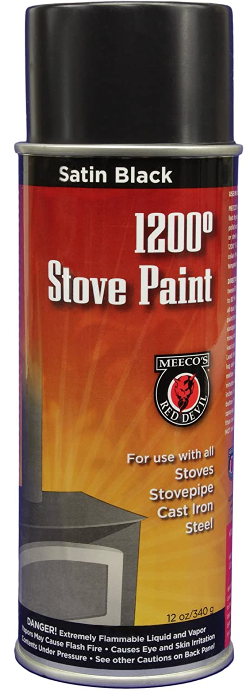 MEECO'S RED DEVIL 405 Spray Paint, Satin Black