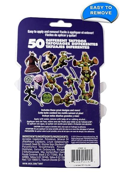 Nickelodeon Teenage Mutant Ninja Turtles 50 Tattoos