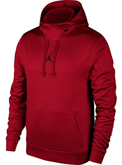 2ca469e564f8 Image Unavailable. Image not available for. Color  Nike Mens Jordan Therma  23 Training Pull Over Hoodie Gym Red Black ...